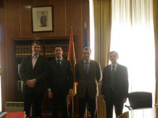De gauche à droite: Thomas Mimra, Jérôme Cloarec, Luis Cuesta et François Vaute