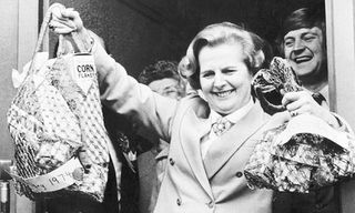 Margareth Thatcher et l'inflation (source : http://www.guardian.co.uk/business/2011/jan/16/inflation-the-old-enemy-frightened)